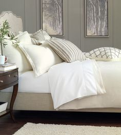 Luxury Bedding by Eastern Accents - BREEZE PEARL KING SHAM