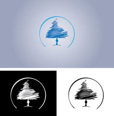 Pine tree logo. Winning design by jazzbox on ScriptLance. #logo #contest