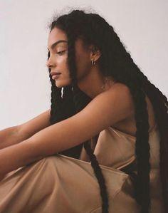 Black Girl Aesthetic, Aesthetic Hair, Black Girls Hairstyles, Braided Hairstyles, Hairstyles Videos, Teen Hairstyles, Casual Hairstyles, Medium Hairstyles, Poses