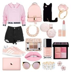 """Sin título #243"" by frichu on Polyvore featuring moda, Local Heroes, Boohoo, adidas Originals, MICHAEL Michael Kors, Fendi, Charlotte Russe, Goshwara, DIANA BROUSSARD y Rimmel"