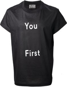 70a51940 Acne Studios - Black Slogan Print T-Shirt for Men - Lyst