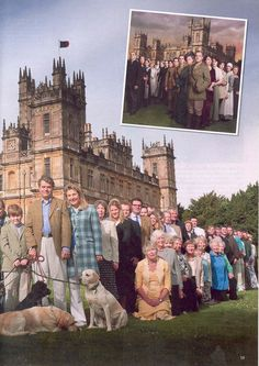 I assume these are the real residents of Highclere castle...would like to know more about them.