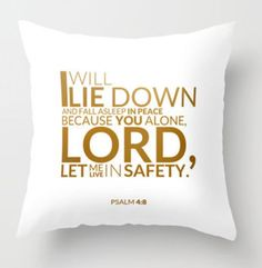 Psalm 4:8 pillowcase verse - this verse on a pillowcase is what I've been wanting to make! #inspired