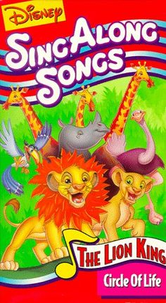 Disney's Sing Along Songs - The Lion King: Circle of Life [VHS] Buena Vista Home Entertainment Disney Wiki, Disney Magic, Kids Tv, 90s Kids, Disney Songs, Disney Movies, 90s Childhood, Childhood Memories, The Lion Sleeps Tonight