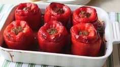Beef and Rice Stuffed Bell Peppers Allrecipes.com