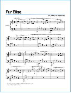 Fur Elise (Beethoven) | Free Printable Sheet Music for Piano