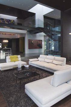 Dark and moody modern interior