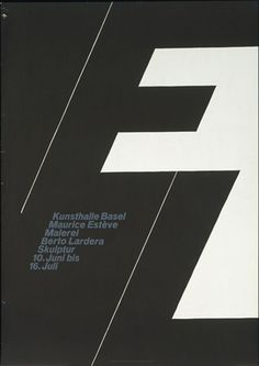 Armin Hofmann. Kunsthalle Basel, Maurice Esteve, Malerie, Berto Lardera, Skulptur, 10. Juni bis 16. Juli. 1961
