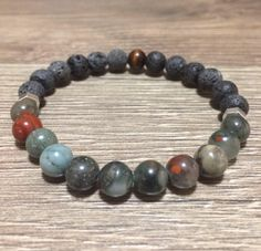 Excited to share this item from my shop: Mens Bracelet, Lava Bracelet, Mens Aromatherapy Bracelet,Mens Jewelry, Essential Oil Diffuser Bracelet Healing Bracelets, Gemstone Bracelets, Bracelets For Men, Aromatherapy Jewelry, Lava Bracelet, Pacifiers, Essential Oil Diffuser, Stone Beads, Natural Gemstones