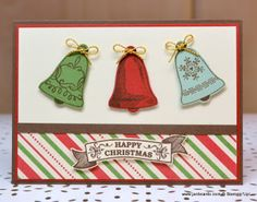 I used the Stampin' Up! Seasonal Bells Stamp Set and This Christmas Designer Series Paper to make this card.