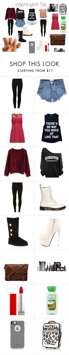 """Washington trip"" by lovaticlov ❤ liked on Polyvore featuring NIKE, One Teaspoon, Rise, Chicwish, Dorothy Perkins, Joie, Dr. Martens, UGG Australia, Luichiny and VIPARO"