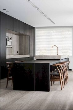 Outstanding modern kitchen room are offered on our internet site. Modern Kitchen Design, Interior Design Kitchen, Kitchen Decor, Black Kitchens, Home Kitchens, Küchen Design, House Design, Light Design, Cuisines Design