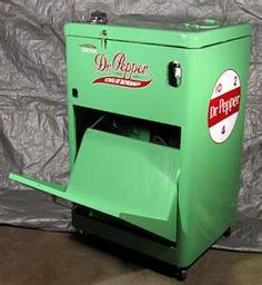 Old Dr Pepper vending machine.