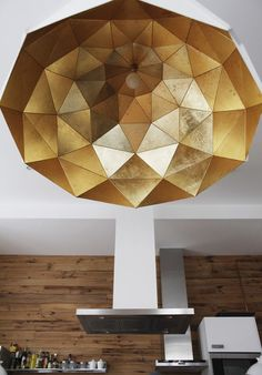 Sun Chandelier Gold Plated Stainless Steel