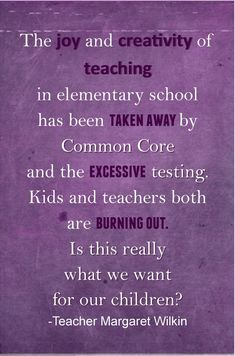 Teacher Writes Legislator after Retiring Due to Common Core. Read more...