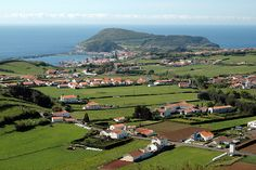 Faial, looking towards Horta, in the Azores