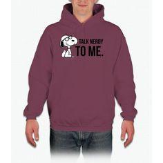 Snoopy Nerd Charlie Brown Hooded Sweatshirt