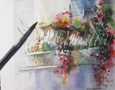 Flower Trellis, Behance, Concept, Watercolor, Gallery, Drawings, Check, Creative, Flowers