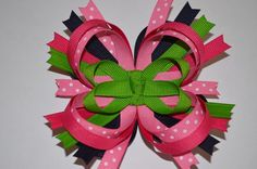 AWESOME! Over The Top Layered,Boutique HairBow Set/HandMade Hair Accessories $12.99