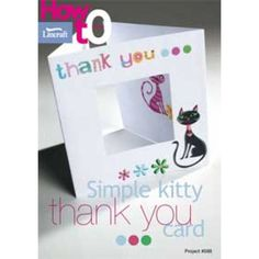 Simple Thank You Kitty Card-