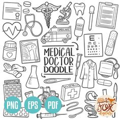 Hand Drawn Line Art Design Set Artwork Clip Art Sketch Doodle Drawings, Doodle Art, Doodle Frames, Line Art Design, Design Set, Web Design, Medical Clip Art, Dibujos Zentangle Art, Medical Drawings