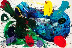 "Untitled painting by Sam Francis (American, 1923-1994). Untitled, 1988. Acrylic on canvas 79-1/2"" x 120"" .  Sold For:  $515,000.00"
