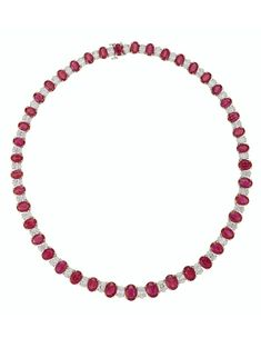 Ruby And Diamond Necklace, Ruby Necklace, Necklace Price, Beaded Necklace, Necklaces, Elizabeth Taylor Jewelry, Art Deco Necklace, Ruby Red, Turquoise Jewelry