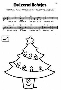Liedje: Duizend lichtjes Kids Christmas, Merry Christmas, Xmas, Art For Kids, Crafts For Kids, Santa's Little Helper, Kids Songs, Jingle Bells, Music Notes