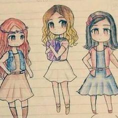 Violetta au milieu, Camilla a gauche et Francesca a droite