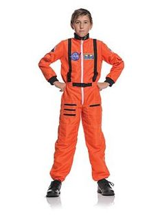 Child's Orange Astronaut Costume | Cheap Classic Halloween Costume for Boys