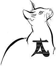 Alfabeto de silueta de gatito-