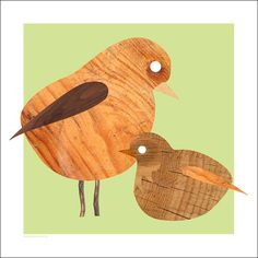 TIMBERRR! wooden bird illustration by Standard Design. $18 #wood