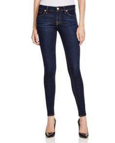 d472a04849f1 7 For All Mankind Skinny Jeans in Dark Dusk Indigo Women - Jeans   Denim -  Bloomingdale s