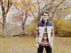 Fall = flannels + vests + colorful trees