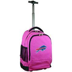Mojo Licensing Premium Wheeled Backpack - Bufallo Bills, Pink