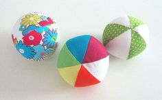 Sew A Happy Soft Colorful Ball - Free Tutorial
