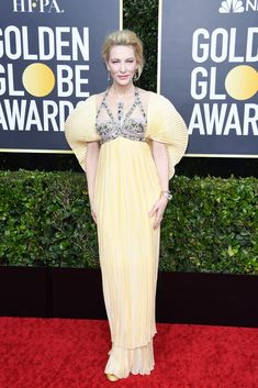 Cate Blanchett in Mary Katrantzou: Golden Globes The Best Dressed Celebrities on the Red Carpet Cate Blanchett, Nicole Kidman, Scarlett Johansson, Jennifer Lopez, Jennifer Aniston, Winnie Harlow, Zoe Kravitz, Sofia Carson, Helen Mirren