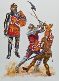 Cavalieri spagnoli, fine XIV secolo