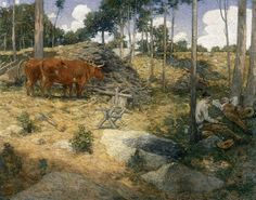 WEIR, Julian Alden  American painter (b. 1852, West Point, d. 1919, New York)  Midday Rest in New England  1897  Oil on canvas, 101 x 128cm