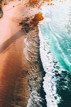 Aerial photo of a beautiful beach
