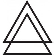 Black Geometric Triangles Tattoos Designs