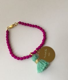 24K gold bracelet made with neon beads by quiaimelesetoiles