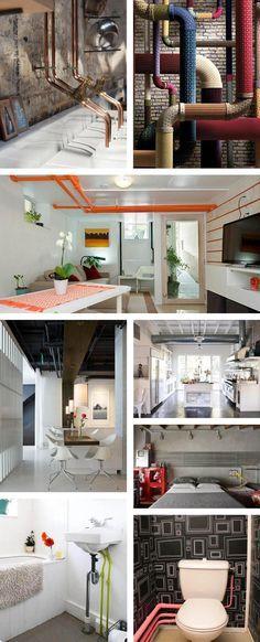 comment cacher des tuyaux apparents m6 finition. Black Bedroom Furniture Sets. Home Design Ideas