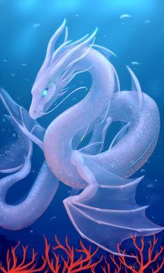 Sea Serpent by PurpleTigress on DeviantArt Sea Creatures Art, Sea Creatures Drawing, Mystical Animals, Dragon Artwork, Creature Art, Fantasy Character Design, Dragon Art, Dragon Pictures, Mythical Creatures Art
