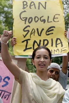 WRONG! WRONG! WRONG!  Yielding to religious & political pressure Google, Facebook take down 'offensive' India content