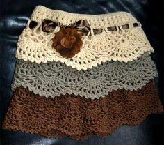 Crochet Skirts Crochet skirt pattern free for women - Skirt Pattern Free, Crochet Skirt Pattern, Crochet Skirts, Crochet Clothes, Free Pattern, Knitted Skirt, Skirt Patterns, Coat Patterns, Blouse Patterns