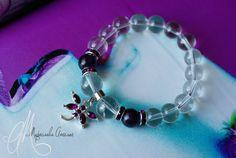 Clear quartz & purple fluorite