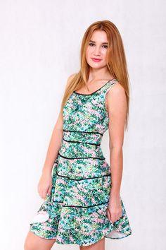 PINK-TAG GARDEN BODYCON DRESS #garden #green #pinktag #trend #fashion #buy