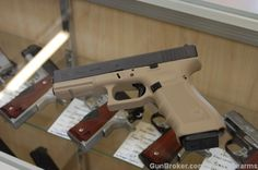 Glock 22 Gen 4 Coyote Tan Cerakote X-Werks Para Ordnance, Concealed Carry Weapons, Glock 22, Hand Cannon, Arsenal, Firearms, Sleeve Tattoos, Hand Guns, Safety