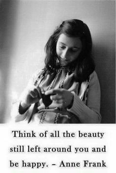 Anne Frank quote beauty